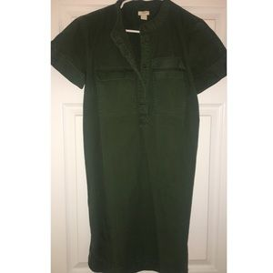 JCREW army green dress